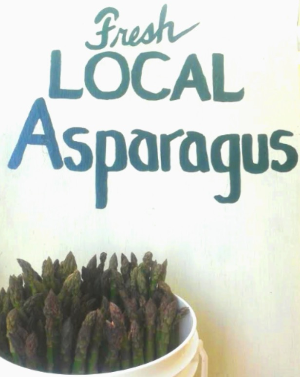 Local asparagus sign